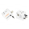 ADAPTADOR INTERNACIONAL MULTIUSO ALL IN ONE C/ DUAS SAÍDAS USB LELONG - LE- 1056
