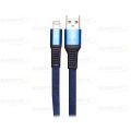 CABO DE DADOS FLAT USB 2.1A P/ IPHONE 5 C/ 1,0M E MALHA EXBOM - 2947