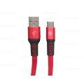 CABO DE DADOS FLAT USB 2.1A P/ TYPE-C C/ 1,0M E MALHA EXBOM - 2946