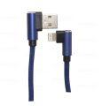 CABO DE DADOS USB 2.1A C/ PINO 90 GRAUS P/ IPHONE 5 C/ 1,0M E MALHA EXBOM - 2950