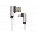 CABO DE DADOS USB 2.1A C/ PINO 90 GRAUS P/ SAMSUNG (V8) C/ 1,0M E MALHA EXBOM - 2951
