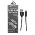 CABO DE DADOS USB 2.1A METAL P/ IPHONE 5 C/ 1,0M SHINKA - SJX-II-6S