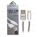CABO DE DADOS USB 2.1A METAL P/ TYPE-C C/ 1,0M SHINKA - SJX-II-TPC