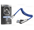 CABO DE DADOS USB 2.4A C/ PINO 45 GRAUS P/ IPHONE 5 C/ 1,0M E MALHA SHINKA - SH-CB-S4-5G