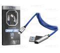 CABO DE DADOS USB 2.4A C/ PINO 45 GRAUS P/ SAMSUNG (V8) C/ 1,0M E MALHA SHINKA - SH-CB-S4-V8