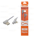 CABO DE DADOS USB 2A C/ PINO 90 GRAUS P/ IPHONE C/ 1,0M E MALHA LELONG - LE-824L