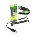 CABO DE DADOS USB 3A ESPIRAL P/ SAMSUNG (V8) C/ 1,2M X-CELL - XC-CD-34
