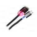 CABO DE DADOS USB ILUMINADO P/ SAMSUNG (V8) C/ 1,0M EXBOM - 2755