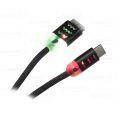 CABO DE DADOS USB ILUMINADO P/ TIPO-C C/ 1,0M EXBOM - 2758