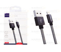 CABO DE DADOS USB P/ IPHONE 5 2.4A C/ 1,0M E MALHA LELONG - LE-12110L