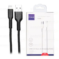 CABO DE DADOS USB P/ IPHONE 5 2.4A C/ 1,0M E MALHA LELONG - LE-12310L