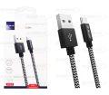 CABO DE DADOS USB P/ TYPE-C 2.4A C/ 1,0M E MALHA LELONG - LE-12110T