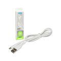 CABO DE DADOS USB REFORÇADO BRANCO P/ SAMSUNG (V8) 3A C/ 1,0M KIMASTER - CB703XBI