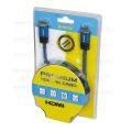 CABO HDMI 2.0 C/ 5,0M 19 PINOS 3D / 4K ULTRAHD C/ MALHA TÊXTIL (BLISTER) B-MAX - BM8680