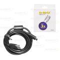 CABO USB COMPATÍVEL C/ CONTROLE PS4 (V8) C/ 1,80M E FILTRO B-MAX - BM8619
