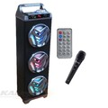 CAIXA BLUETOOTH 36W C/ MICROFONE / FM / USB / AUX / SD XTRAD - KK812