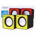 CAIXA DE SOM 2.0 5W C/ ALIMENTAÇÃO USB P/ PC E NOTEBOOK CS-32 EXBOM - 2572