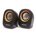 CAIXA DE SOM 2.0 5W P/ PC C/ ALIMENTAÇÃO USB E P2 CS-88 EXBOM - 3130