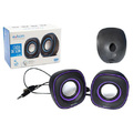 CAIXA DE SOM 2.0 USB BASS 5W P/ PC E NOTEBOOK CS-46 EXBOM - 0627