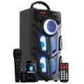 CAIXA DE SOM BLUETOOTH 12W SUPER BASS C/ VISOR SD / USB / FM / ENTRADA P/ MICROFONE VC-M883QBT INFOKIT - 2453