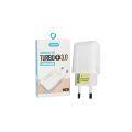 CARREGADOR TURBO USB ANATEL QC 3.0 5V 3A / 9V 2A / 12V 1,5A KIMASTER - T108BI