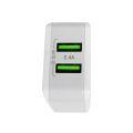 CARREGADOR USB RÁPIDO AUTO-ID 5V 2.4A C/ DUAS SAÍDA USB SHINKA - SH-A2202