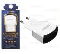 CARREGADOR USB UNIVERSAL 5V 2A C/ DUAS SAÍDA USB SHINKA - SH-T007