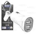 CARREGADOR VEICULAR C/ 2 PORTAS USB 5V 2A SHINKA- SH-145-V