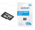 CARTÃO DE MEMÓRIA CLASSE 10 MICRO SD 64GB STGD-TF64G EXBOM - 3067