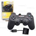 CONTROLE C/ FIO COMPATÍVEL C/ VÍDEO GAME PS2 NO BLISTER XTRAD - XD021 / B-MAX - BM021 / FY-1502