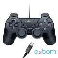 CONTROLE GAMER USB P/ COMPUTADOR EMBALAGEM PLÁSTICA CTR-95USB EXBOM - 2021