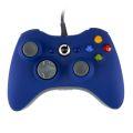 CONTROLE GAMER USB AZUL COMPATÍVEL C/ VÍDEO GAME XBOX 360 E PC NO BLISTER DAZZ - 624503