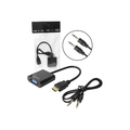 CONVERSOR HDMI MACHO X VGA FÊMEA C/ ÁUDIO LEAVES - 191
