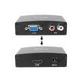 CONVERSOR VGA FÊMEA X HDMI FÊMEA C/ ÁUDIO KNUP - KP-3458 / LEAVES - 203 / XTRAD - XT-2020 / SHINKA - V-HD
