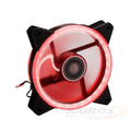 COOLER FAN 120MM X 120MM C/ 30 LEDS VERMELHO DUPLA FACE DEX - DX-12D