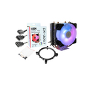 COOLER P/ PROCESSADOR INTEL / AMD C/ LED ARGB E FAN 92MM DEX - DX-2017