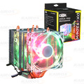 COOLER P/ PROCESSADOR INTEL / AMD C/ LED RGB E 2 FAN 92MM DEX - DX-9206W