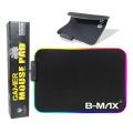 MOUSE PAD GAMER 350MM X 250MM C/ LED RGB DEX - RY-2535 / B-MAX - BM781