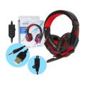 HEADFONE GAMER USB / P2 COMPATÍVEL C/ PS3 E PS4 C/ MICROFONE E LED HF-G390P4 EXBOM - 2984 Vermelho