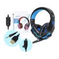 HEADFONE GAMER USB / P2 COMPATÍVEL C/ PS3 E PS4 C/ MICROFONE E LED HF-G390P4 EXBOM - 2984 Azul