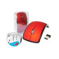 MOUSE DOBRÁVEL USB S/ FIO 2,4GHZ SHINKA - MO-116 Vermelho