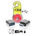 ADAPTADOR USB 3.1 TYPE-C MACHO X USB 3.0 FÊMEA OTG SHINKA - AT-OTG-TPC / LEAVES