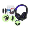 HEADFONE GAMER USB / P2 COMPATÍVEL C/ PS3 E PS4 C/ MICROFONE E LED HF-G310P4 EXBOM - 2843 Azul