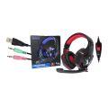 HEADSET GAMER USB + P2 C/ LED / CONTROLE DE VOLUME P/ PC CELULAR HF-G600 EXBOM - 3333