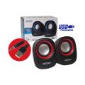 CAIXA DE SOM 2.0 5W P/ PC C/ ALIMENTAÇÃO USB E P2 CS-88 EXBOM - 3130 Preto / Vermelho