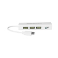 HUB TYPE-C C/ 3 PORTAS USB 2.0 E 1 RJ45 LELONG - LE-5575 / DEX - 1224C