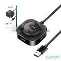 HUB USB 2.0 480 MBPS 4 EM 1 C/ 4 PORTAS USB 2.0 E ENTRADA MICRO USB (V8) UH-24 EXBOM - 3466