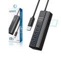 HUB USB 3.0 5 GBPS 8 EM 1 C/ 6 PORTAS USB 3.0 / LEITOR DE CARTÃO SD E MICRO SD UH-R36 EXBOM - 3470