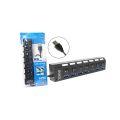 HUB USB 3.0 C/ 7 PORTAS E CHAVE LIGA E DESLIGA FY - 0377 / LEAVES