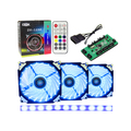 KIT 3 COOLER 120MM RGB 21 LEDS C/ CONTROLADOR + FITA DE LED RGB DEX - DX-123R